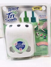 Renuzit Tri Scents Warmer Scented Oil Air Freshener MORNING MEADOW Refill NIB