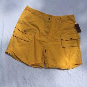 Yellow Linen Blend Shorts Size 3X Sherry Taylor Sportswear