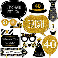 20 X 40th Large Photo Booth Props Moustache Birthday Party Favour Kit DIY