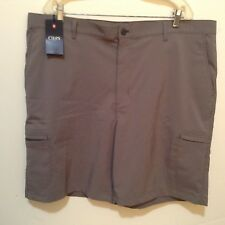 Chaps Men's Golf Shorts Stay-Dry Stretch Gray Size 42 Msrp $60 Nwt! (#Cb42-L7)