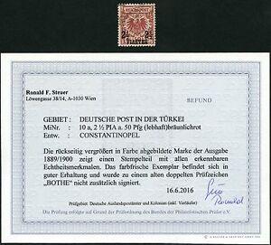 DP Türkei Krone/Adler 10 a ° Constantinopel Befund Steuer BPP / 53