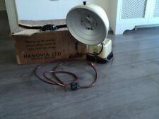 Retro 1950s original vintage Hanovia sun lamp Bakelite With Box & Manual VGC