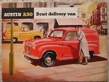 AUSTIN A30 5 CWT DELIVERY VAN Sales Brochure c1954 #1140/B
