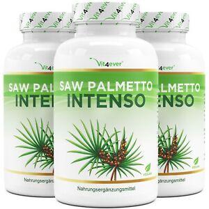 180 - 540 Kapseln Saw Palmetto Extrakt - Hochdosiert Vegan - 5% Phytosterol
