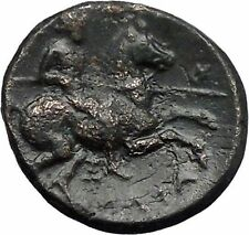 LARISSA in THESSALY 350BC NYMPH & HORSEMAN Authentic Ancient Greek Coin i49151