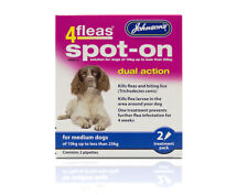 JOHNSON'S 4fleas Dual Action Spot on for Medium Dogs