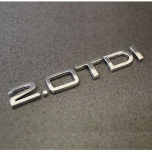 Chrom Silber 2.0 TDI Abzeichen Emblem Für A1 A2 A7 A8 Q3 Q5 Q7 TT Audi 2.0tdi DE