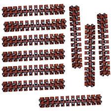 Kopp Lüsterklemmen 6mm²  12polig 10 Stück / Riegel  in braun