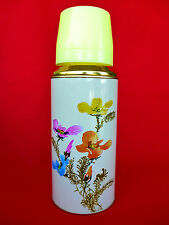 New Old Stock 80's Camper Coffee Thermos Vacuum Flask 20oz0.62lt Sunflower Nr37