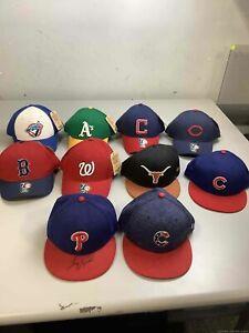 Men's Lot of 10 Brand New Baseball Hats Various Sizes