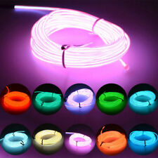 Flexible Neon Car LED Light Glow EL Wire String Strip Rope Tube Christmas Party