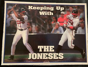 """Vintage Chipper & Andrew Jones Braves Keeping Up With Poster 11"""" x 14"""" 1999 AJC"""