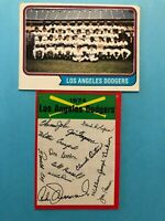 1974 Topps Team Card and Unmark Team Checklist of Los Angeles Dodgers