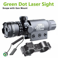 Tactical Hunting Rifle Green Laser Sight Dot Scope Adjustable w/ Mounts Sight