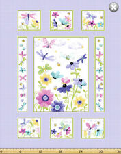 Flutter Butterfly by SusyBee Cotton Quilt fabric BTP Panel 44x36