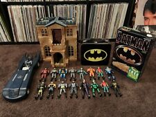 Kenner Batman 90s Lot 17 Figures Bruce Manor Bat Cave Batmobile Cereal Lunchbox