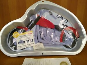 Never Used Complete Vintage Wilton 1999 Motorcycle Cake Pan 2105-2025