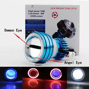 LED Projector Headlight Devil Angel Eye for Kawasaki Ninja EX  250 300 500 650 R