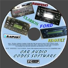 CAR AUDIO/RADIO/STEREO LOST CODE DECODE UNLOCK SOFTWARE PCCD FORD RENAULT BECKER