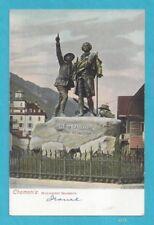 Chamonix, France - Monument Saussure - unposted vintage postcard