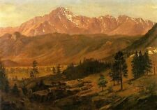 Art landscape Oil painting Albert Bierstadt - Pikes Peak with mountains canvas