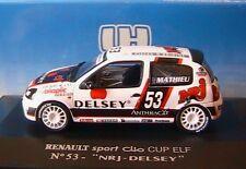 RENAULT SPORT CLIO CUP ELF #53 NRJ DELSEY MATHIEU 1/43