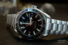 MEN'S OMEGA GMT SEAMASTER 23230442201 PLANET OCEAN 44MM  S.STEEL 600M  DIVING
