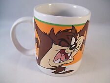 Gibson Stoneware Looney Tunes Taz Coffee Mug Tasmanian Devil Orange 1998 Ret