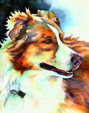 Custom Pet Portrait - dog, puppy, watercolor fine art commissioned painting 16