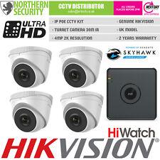 HiLook HD 1080P 2MP 2.8-12MM Visión Nocturna Exterior Poe Sistema Seguridad Kit