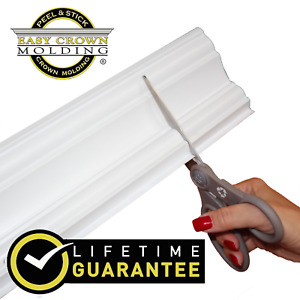 """4"""" Peel & Stick -Easy Crown Molding - 34' Kit -8 corners. scratch and dent sale."""