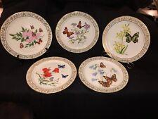 Five Lenox Butterflies & Flowers Limited Edition Plates