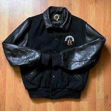 Rare Vintage 80s Dehen Jackets Alpha Tau Omega Fraternity Bomber Varsity Size M