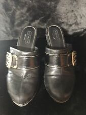 Black Coach Clog Mule Shoes Size 7.5 With signature coach print, used
