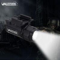 Military Police Tactical Gun Green White LED Light Pistol Flashlight Rail Mount