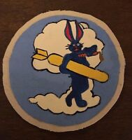 WWII USAAF US Army Air Force 324th Bomb Squadron patch Bugs Bunny
