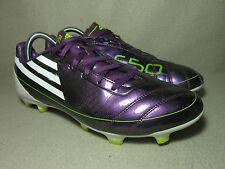 ADIDAS F10 TRX FG Men's Purple/White S.Leather Football Boots UK 9 /EU 43