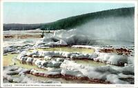Minerva Terrace Yellowstone National Park Postcard used 1913 RARE misprint Read