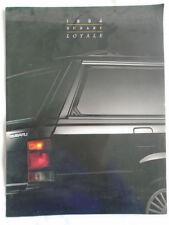Subaru Loyale brochure 1994 USA market