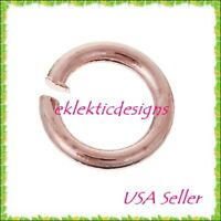 **NEW ITEM 200pcs 3mm .7mm 21gauge BRASS Lt Rose Gold Jump Rings Jewelry Finding