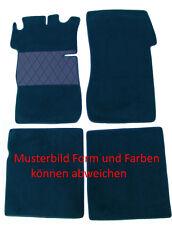 Fußmatten Autoteppich für Mercedes W 111 Limousine 4teilig dunkelblau Neu Velour