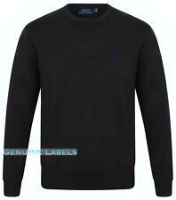 6fc998dc3 Ralph Lauren Polo Mens Grey Crew Neck Merino Wool Jumper M-XL RRP £125