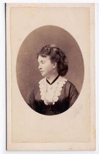 Naples Portrait of a noble woman CDV photo albuminé 1860 E. Le Jeune Napoli Vi86