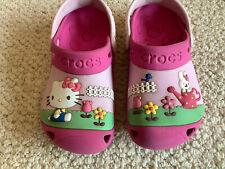 Girls Hello Kitty Pink Crocs 10/11