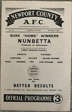 More details for newport county v bristol rovers 1951/52