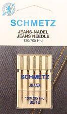 5 Jeans Universal 130/705 Schmetz Nähmaschine Nadeln Flachkolben 80
