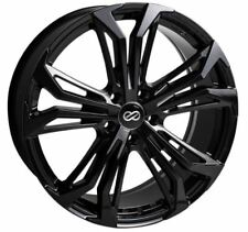 18x8 Enkei Rims VORTEX5 5x108 +40 Black Rims Fits Focus Svt Escort