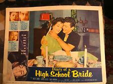 Diary Of A High School Bride 1959 American International lobby card Anita Sands
