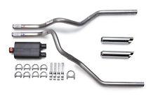 1996-1999  GMC Sierra Dual Exhaust Kit Flowmaster 40 Muffler Chrome Tips