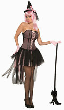 Pin-Up Pin Up Witch Pink Black Womens Adult Costume Standard Size NEW